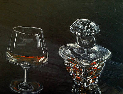 Decanters Painting - Brandy by Deb Wolf