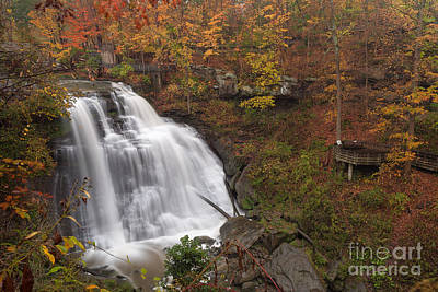 Brandywine Falls In Autumn Art Print by Joshua Clark