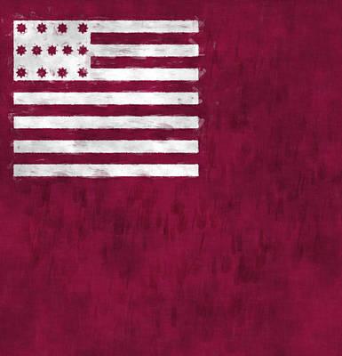 Brandywine Flag Art Print by World Art Prints And Designs
