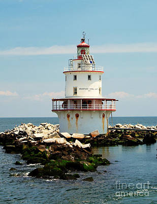 Brandywine Shoal  Lighthouse Art Print by Nick Zelinsky