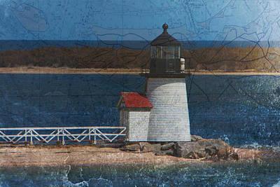 New England Lighthouse Digital Art - Brant Point Lighthouse by Jeff Folger