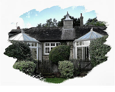 Digital Art - Brantridge Cottage 2 by Gordon Engebretson