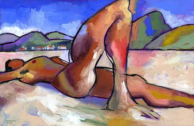 Figures Painting - Brasil by Douglas Simonson