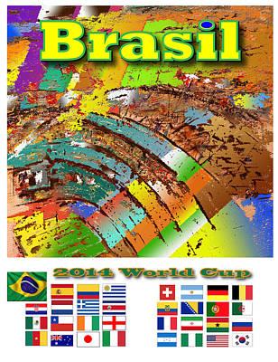 Brasil World Cup Poster Art Print by Jorge Garza