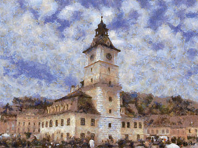 Painting - Brasov City Hall by Jeff Kolker