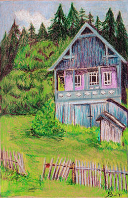 Romania Drawing - Brasov House Romania by Rosi Berry