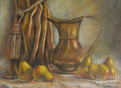 Painting - Brass And Pears by Jana Baker