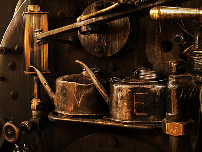 Steampunk Royalty-Free and Rights-Managed Images - Brass and Steam by Mary Jo Allen