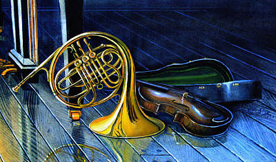 Music Paintings - Brass And Strings by Hanne Lore Koehler