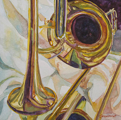 New Orleans Jazz Painting - Brass At Rest by Jenny Armitage