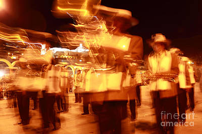 Marching Band Photograph - Brass Band At Night by James Brunker