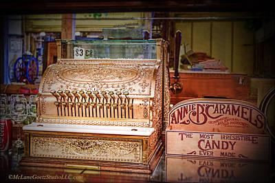 Coin Photograph - Brass Cash Register And Candy by LeeAnn McLaneGoetz McLaneGoetzStudioLLCcom