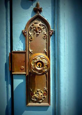 Photograph - Brass Door Handle by Joseph Skompski