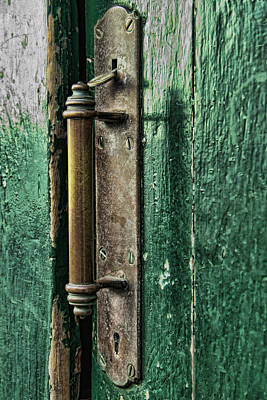 Photograph - Brass Door Latch by Michael Flood