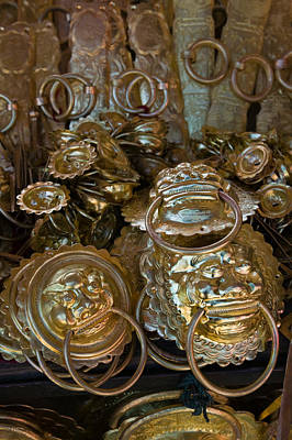 Brass Items For Sale In A Street Art Print by Panoramic Images