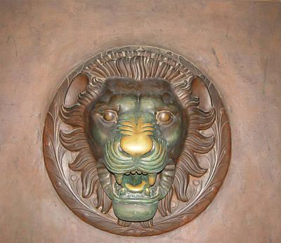 Brass Rubbing Photograph - Brass Lion by Maura Satchell