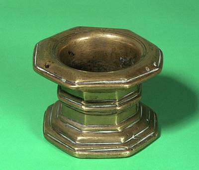 Mortar Photograph - Brass Mortar by Science Photo Library
