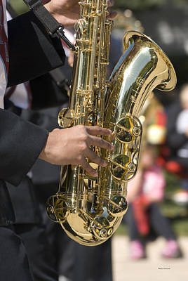 Marching Band Photograph - Brass Musical Instrument 03 by Thomas Woolworth