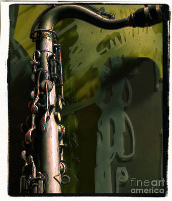 Saxophone Photograph - Brass Sax 2 by Nadalyn Larsen