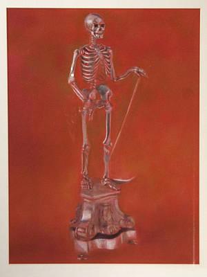 Brass Skeleton Art Print by Paez  Antonio