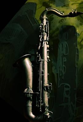 Photograph - Brass Tenor Sax by Nadalyn Larsen