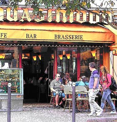 Street Scene Painting - Brasserie In Paris by Jan Matson