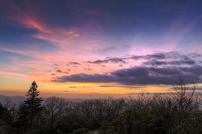 Oconee Photograph - Brasstown Bald Sunset by Debra and Dave Vanderlaan