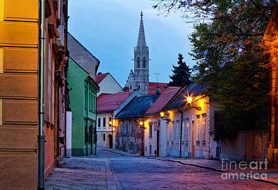 Photograph - Bratislava At Night by Les Palenik