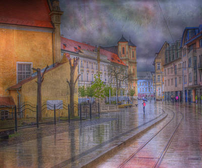 Dramatic Digital Art - Bratislava Downtown by Juli Scalzi