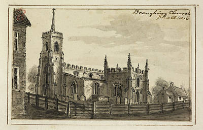 Religious Drawings Photograph - Braughing Church by British Library