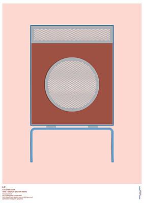 Digital Art - Braun L2 Loudspeaker - Dieter Rams by Peter Cassidy