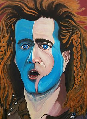 Painting - Brave Heart  Mel Gibson by Edward Pebworth