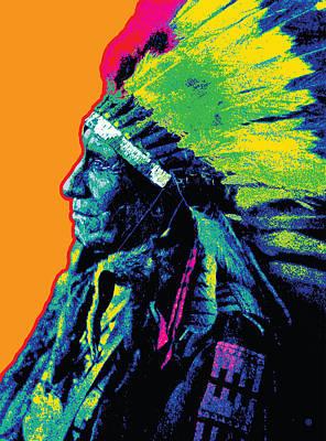 Brave Profile Art Print by Gary Grayson