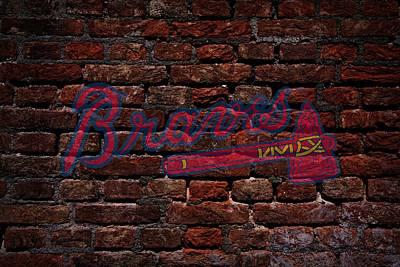 Centerfield Photograph - Braves Baseball Graffiti On Brick  by Movie Poster Prints