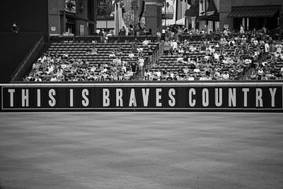 Stood Photograph - Braves Country by Sara Jackson