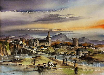 Painting - Bray Around 1500ad by Val Byrne