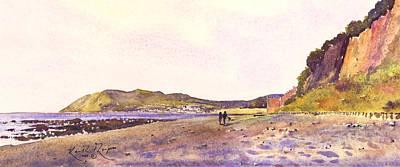 Bray Head Killiney Bay County Dublin Art Print by Keith Thompson