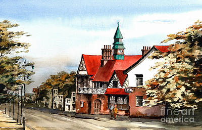 Painting - Bray Town Hall Wicklow by Val Byrne