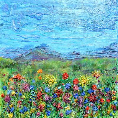 Painting - Brazen Blooms by Regina Valluzzi