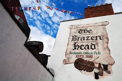 Historic Buildings Images Photograph - Brazen Head Pub Sign, Bridge Street by Panoramic Images