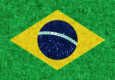 Photograph - Brazil Batik Flag by Kurt Van Wagner