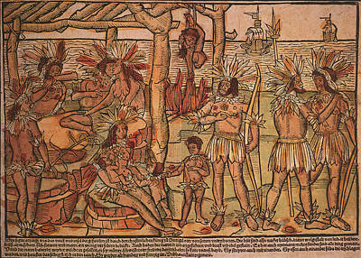 1505 Painting - Brazil Cannibalism, 1505 by Granger