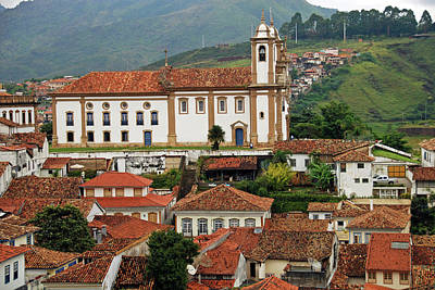 Brazil, Minas Gerais, Ouro Preto, View Art Print by Anthony Asael