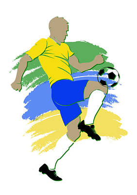 Brazil Photograph - Brazil Soccer Player by Joe Hamilton