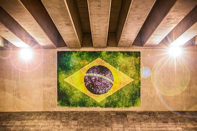 Photograph - Brazilian Flag by Semmick Photo