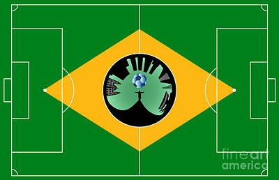 Brazilian Football Field Art Print