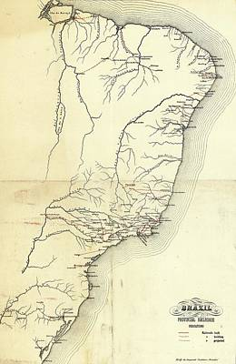 Brazil's Provincial Railways Art Print by Library Of Congress, Geography And Map Division