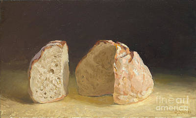 Painting - Bread After Caravaggio by Ben Rikken