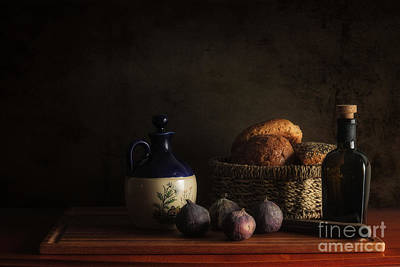 Bread And Figs Art Print by Mike Dunbar