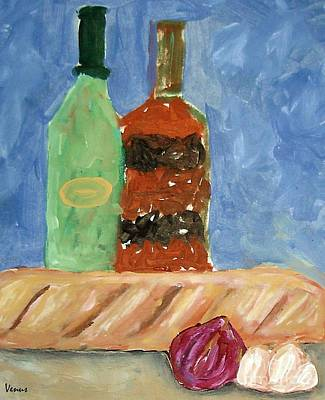 Modernism Mixed Media - Bread And Oil by Venus